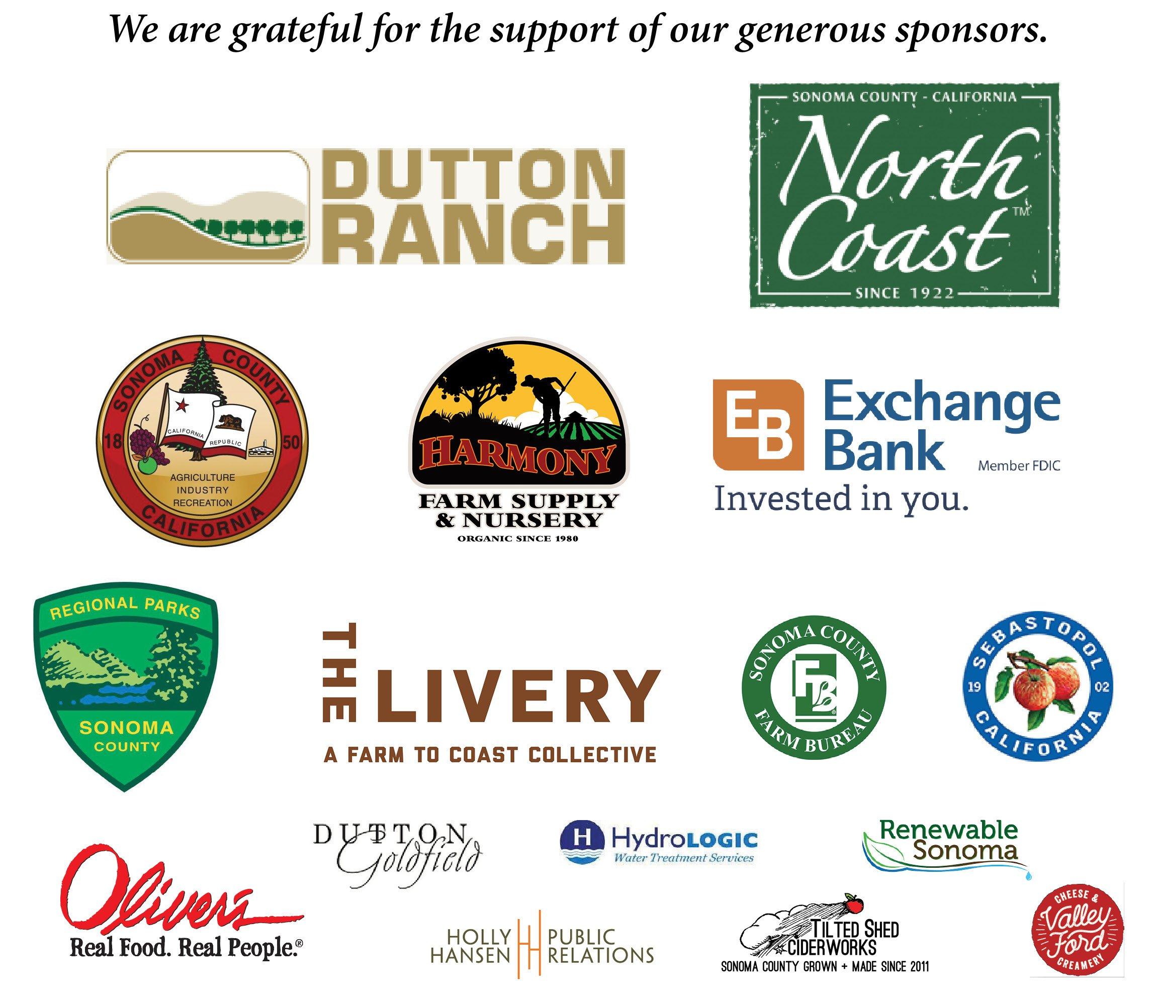 GAFBC sponsors
